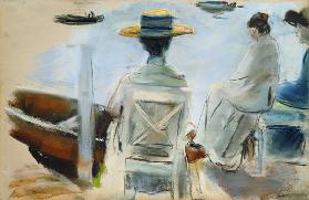Ladies at the Embankment (pastel on paper) 1910