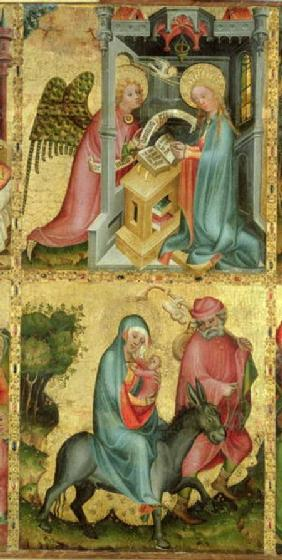 The Annunciation and the Flight into Egypt, from the Buxtehude Altar 1400-10
