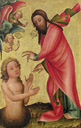 The Creation of Adam, detail from the Grabow Altarpiece 1379-83