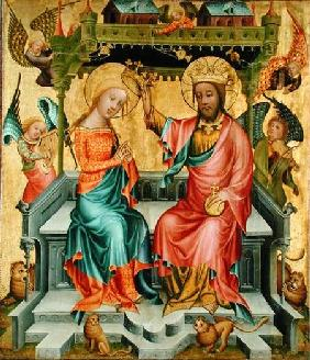 The Crowning of the Virgin, from the right wing of the Buxtehude Altar 1400-10