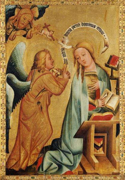 The Annunciation from the High Altar of St. Peter's in Hamburg, the Grabower Altar 1383