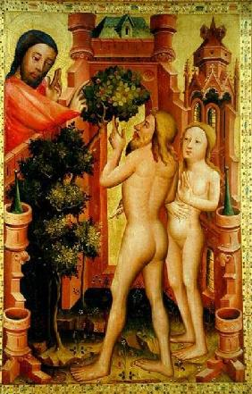 The Tree of Knowledge, detail from the Grabow Altarpiece 1379-83
