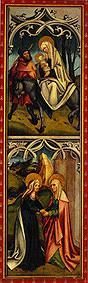 Kunstdruck von  Meister d.Oberschönfelder Altars - Flucht nach Ägypten/Heimsuchung Mariae