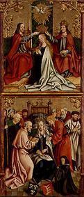 Kunstdruck von  Meister d.Oberschönfelder Altars - Krönung Mariae/Tod Mariae