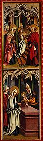 Kunstdruck von  Meister d.Oberschönfelder Altars - Mariae Tempelgang/Darstellung im Tempel