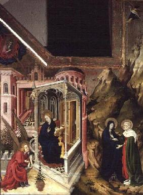 Altarpiece of the Chartreuse de Champmol, left hand side depicting the Annunciation and the Visitati c.1393-99