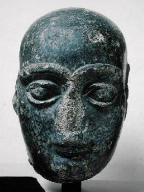 Head of a man, known as Gudea with a shaved head, from Telloh (Ancient Girsu) Neo-Sumerian c.2120 BC