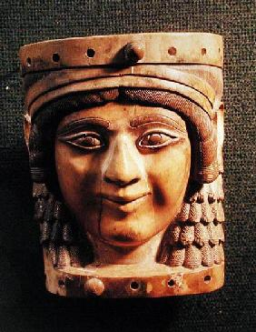 Head of a Woman, called the Lady of the Well or the Mona Lisa of Nimrud, from the Palace of Salmanas 1400-612 B