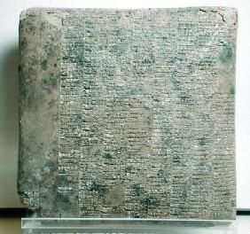 Tablet with cuneiform script listing agricultural records c.2040