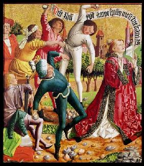 The Stoning of St. Stephen, from the Altarpiece of St. Stephen, c.1470
