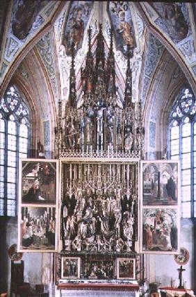 The St. Wolfgang Altarpiece (second opening) 1471-81 (wood with polychromy