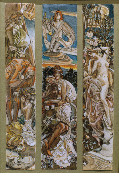 Goethe faust ii michail wrubel als kunstdruck oder handgemaltes gem lde - Faust wandfarbe ...