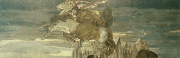 Goethe faust u mephisto michail wrubel als kunstdruck oder handgemaltes gem lde - Faust wandfarbe ...