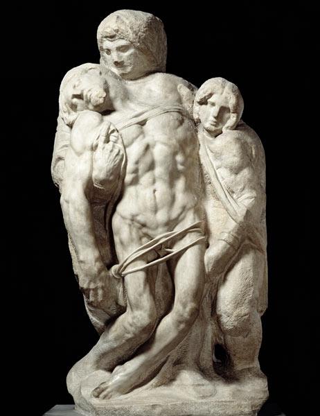 Michelangelo or Niccolò Menghini, Palestrina Pietà, 1555, Galleria dell'Accademia, Florence, Italy.