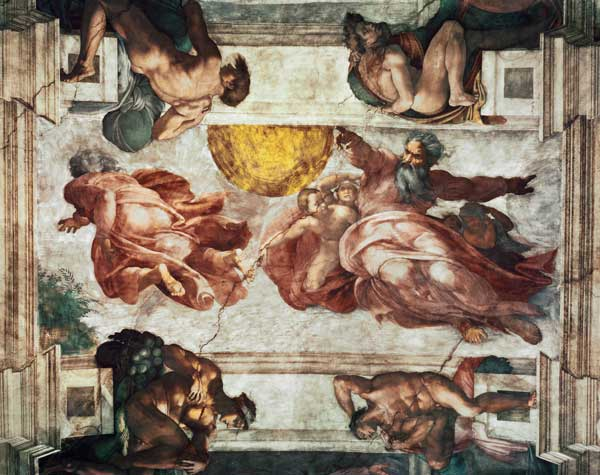 Sistine Chapel Ceiling Creation Of The Michelangelo