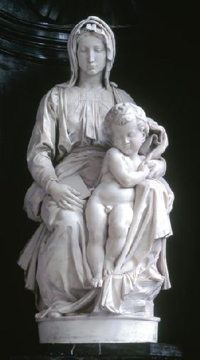 Michelangelo (Buonarroti) - Madonna and Child, commissioned in 1505 by Jan van Moescroen given to the church in 1514 or 1517