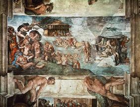 Sistine Chapel Ceiling: The Flood 1508-12