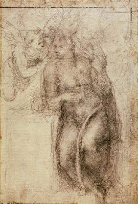 Michelangelo (Buonarroti) - Inv.1895-9-15-516.recto (w.72) Study for the Annunciation