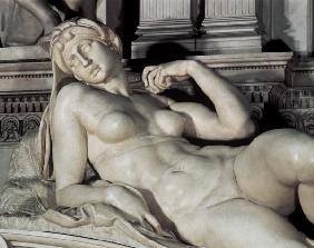 Tomb of Lorenzo de Medici, detail of Dawn 16th