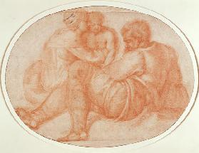 Study of the Holy Family (red chalk) Inv.9/15/539 Recto (W.94)