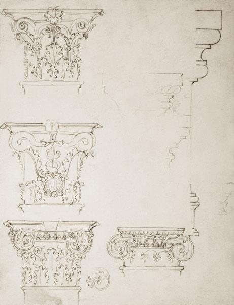 Inv.1859-6-25-549.recto (w.20) Studies for a Capital (brown ink)