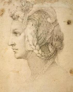 Michelangelo (Buonarroti) - Study of Head