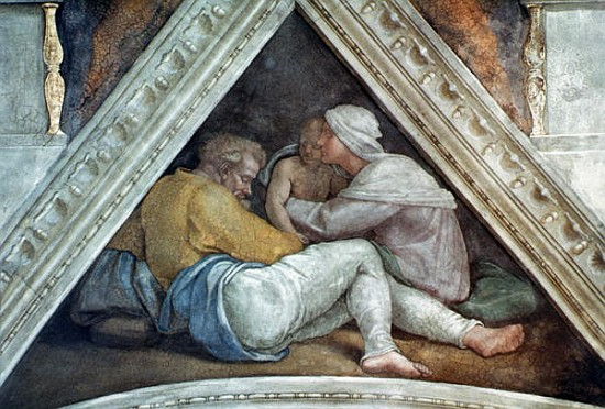 Sistine Chapel Ceiling The Ancestors Of Michelangelo