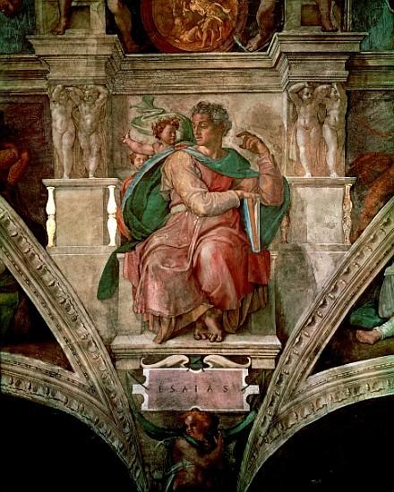 Sistine Chapel Ceiling The Prophet Isai Michelangelo