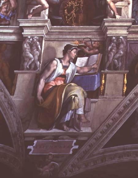 Sistine Chapel Ceiling Eritrean Sibyl Michelangelo