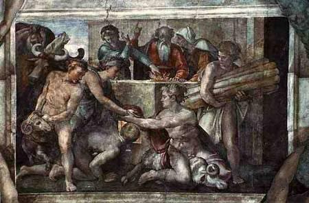 Sistine Chapel Ceiling Noah After The F Michelangelo