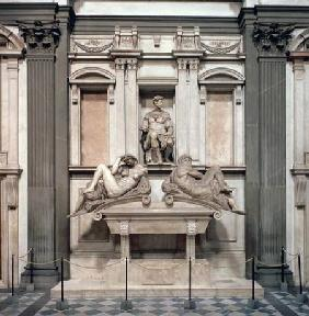 Tomb of Giuliano de' Medici, Duke of Nemours (1479-1516) with the figures of Day and Night 1533