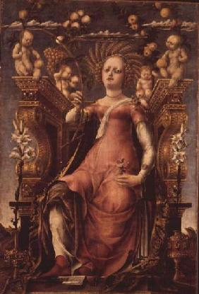 The Muse Thalia (Ceres Enthroned) (oil, tempera