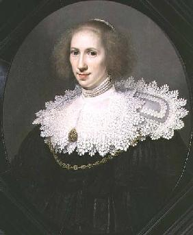 Portrait of a Lady with a Lace Collar and Pearls