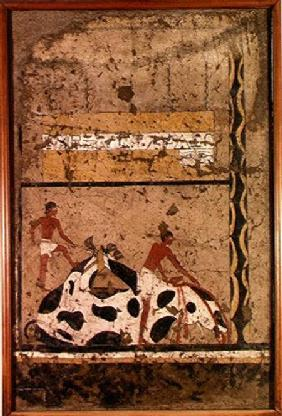 Funerary sacrifice of a bull, from the Tomb of Iti