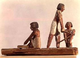 Model of Egyptian brickmakers Kingdom, from Beni Hasan c.2000 BC