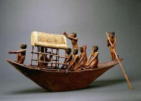 Tomb model of a ship, c.2000 BC (wood) 18th