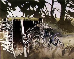 Decrepit Essex Bicycles (w/c on paper)