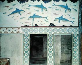 The Dolphin Frescoes in the Queen's Bathroom, Palace of Minos 1600-1400
