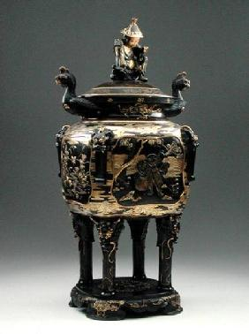 Bronze censer and cover, Meiji period 1868-1912