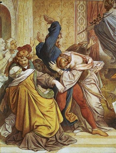 Moritz von Schwind - Die Neugeborenen fliegen als Raben davon