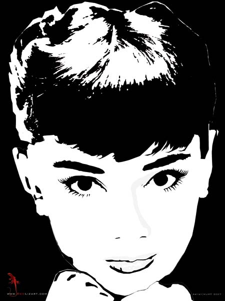 audrey hepburn 4 matthias m ller als kunstdruck oder handgemaltes gem lde. Black Bedroom Furniture Sets. Home Design Ideas