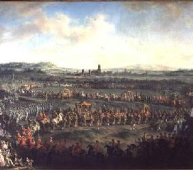 The Entrance of Emperor Francis I (1708-65) into Frankfurt accompanied by Joseph II (1741-90)