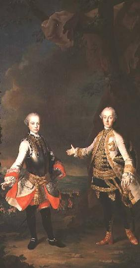 Joseph and Leopold, sons of Francis I and Maria Theresa of Austria, later Joseph II and Leopold II