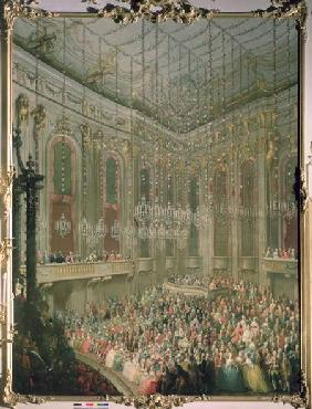 Recital by the Young Wolfgang Amadeus Mozart in the Redoutensaal, on the occasion of the wedding of 1760