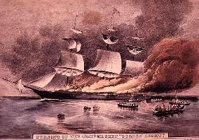 Burning of the Clipper Ship, ''Golden Light'',