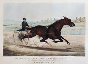 The King of the Turf, ''St. Julien'', driven by Orrin A. Hickok, 1880