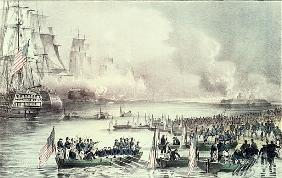 Landing of the American Force at Vera Cruz, under General Scott, March 1847