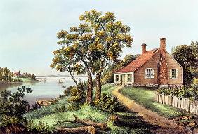 The Birthplace of Washington at Bridges Creek, Westmoreland Co. Va (colour litho) 19th