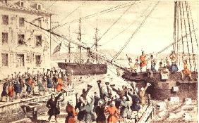 The Boston Tea Party, 1846 (print) 19th