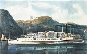 The Hudson River Steamboat `St. John'', published 1864